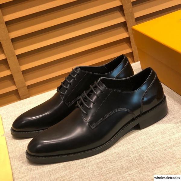 scarpe 2019SS ricamo trincea scarpe Edificio adibito a uffici marchio di lusso da uomo scarpe formali pelle bovina di marca Classic Gold Dimensione US6.5-11 MADAOB