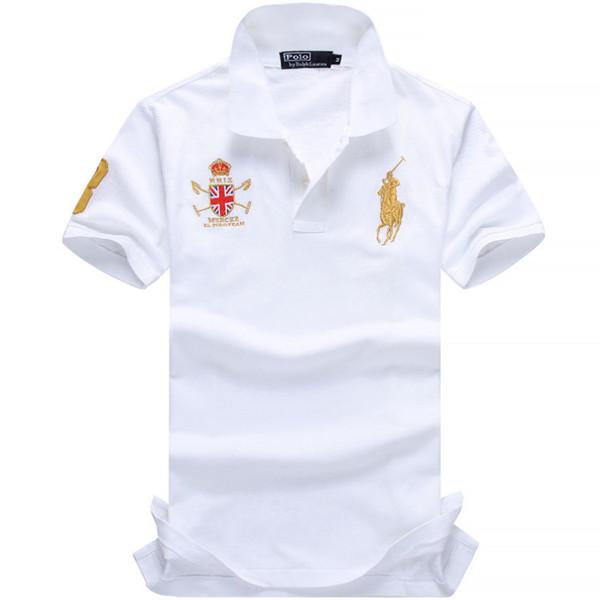 Nouveaux polos hommes coton de haute qualité chemises à manches courtes respirant polo solides chemises d'été des vêtements de loisirs