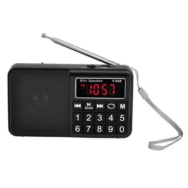 С Громкоговоритель Большой дисплей AM FM Music USB портативного приемника Селективная кнопка Stores Автоматически перезаряжаемые цифровой портативный
