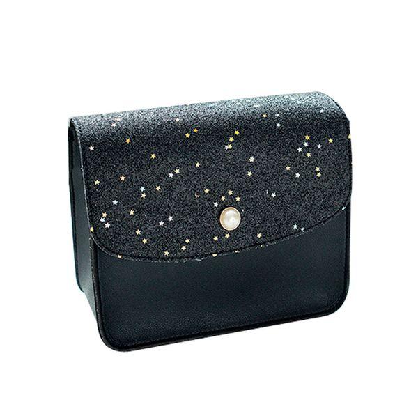 Cheap Fashion Mini Bag Ladies Leather Women Shoulder Bag Coin Purse Sequins Pearl Cover Crossbody Messenger Bags Female Clutch Flap#Z