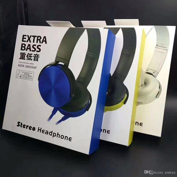 MDR-XB450 Headband Earphones Extra Bass Headphone Wired Headphones Stereo Headsets with Micro for Gaming Bicycle Sprot Music Cellphone sony