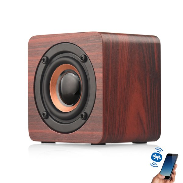 Best Selling Portable Wooden Bluetooth Speaker Mini Wireless Sound Box Subwoofer Stereo Bass Speakers for iPhone Sumsung Xiaomi