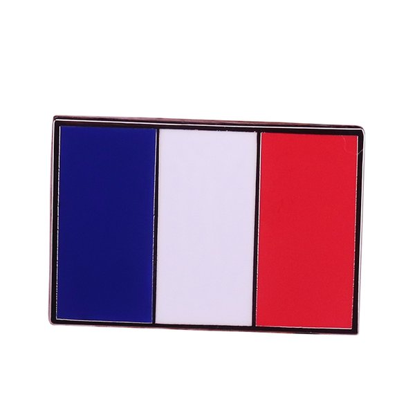 Flagge Patriotischen Schmuck Großhandel Jacken Geschenk Metall Männer Shirts Brosche Frauen Frankreich Zubehör Emaille Tricolor Abzeichen Pin E9YeH2WID
