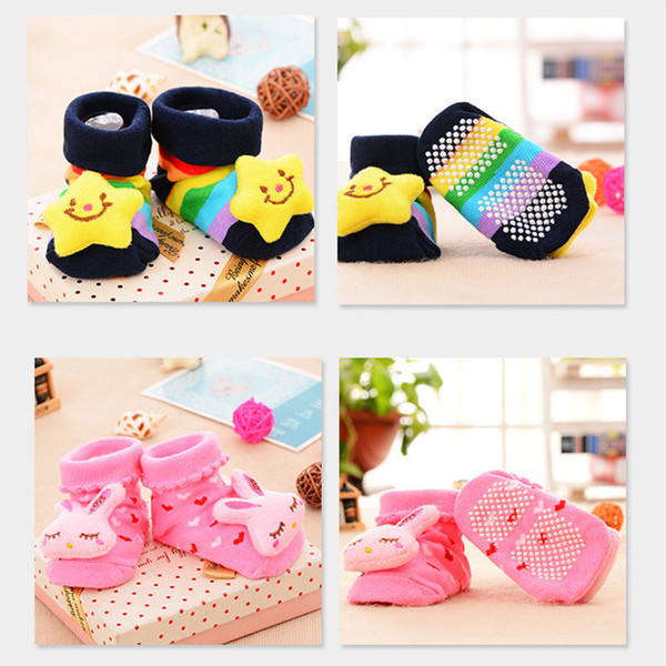 18 Styles Newborn Baby Animal 3D Socks Boys Girls Outdoor Shoes Infant Anti-slip Walking Shoes Kids Warm Socks NC182