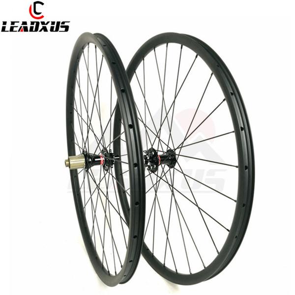 LEADXUS Tam Karbon Fiber 27mm * 23mm Karbon Jantlar MTB 27.5er Ve 29er Kattığı Tubuless Uyumlu MTB Tekerlek 650B 29er Ruedas MTB Bisiklet