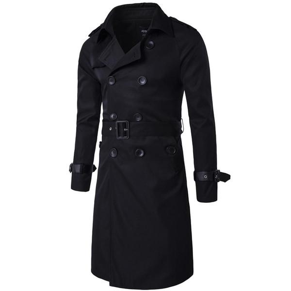 Novo botão de alta-grade Designer de Moda Trench Men Marca Outono Inverno top Casaco Mens Longo Casaco dropshipping venda quente roupas de presente