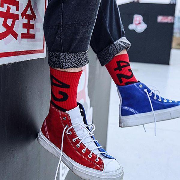 mens women designer socks sock High tube socks trend college wind hip-hop skateboard sock ins men and women tide socking
