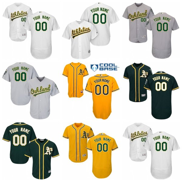 buy popular 27ff2 f6b32 2019 Custom Oakland Athletics Matt Chapman Khris Davis Matt Olson Rickey  Henderson Blake Treinen Mike Fiers Jersey Stitched From Cooljersey, $28.43    ...