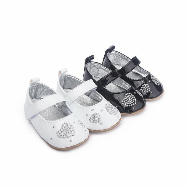 Newborn Baby Boys Girls Crib PU Leather Shoes Toddler Walking Sneakers 0~18M US