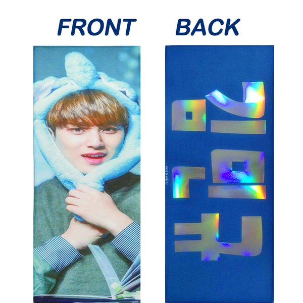 Customized Double Sided Suede Laser Magic Reflection Singer Movie Star Trump Match Cheering Kpop Slogan Towel Banner