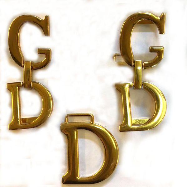 Antique Gold bag Connector G & D Handbag purse strap handles