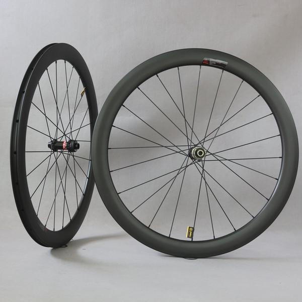 Carbon road bike wheels Disc brake normal brake wheels with Novate D411/D412 hubs hubs wide 25mm 27mm carbon rims