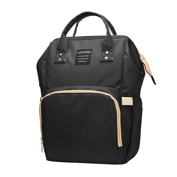 New Maternity Nappy Bag Outdoor Travel Large Capacity Quality Diaper Bag Waterproof Black Women Backpack For Mother Baby Care