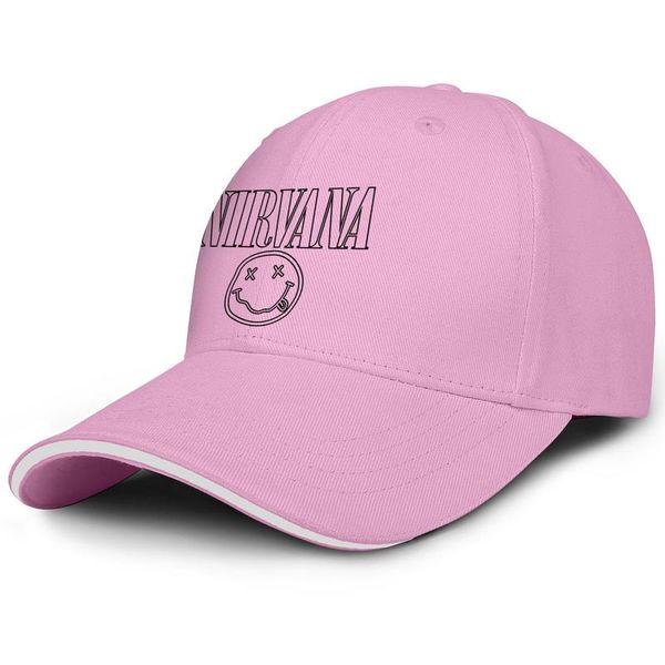 Cheap Men Women visor cap Nirvana Logo black custom baseball hats Back Closure hats 100% Cotton