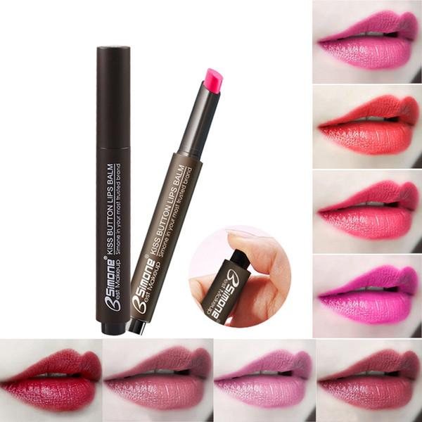 Press-Tipo Batom Hidratante Waterproof Non-Stick Cup mudança da cor do batom fosco maquiagem beleza Cosméticos