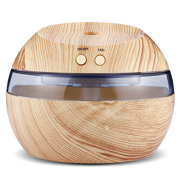 290 ml Mini LED Humidifier Essential Oil Aroma Diffuser Aromatherapy Air Purifier for Living Room Car Wooden Grain JD001
