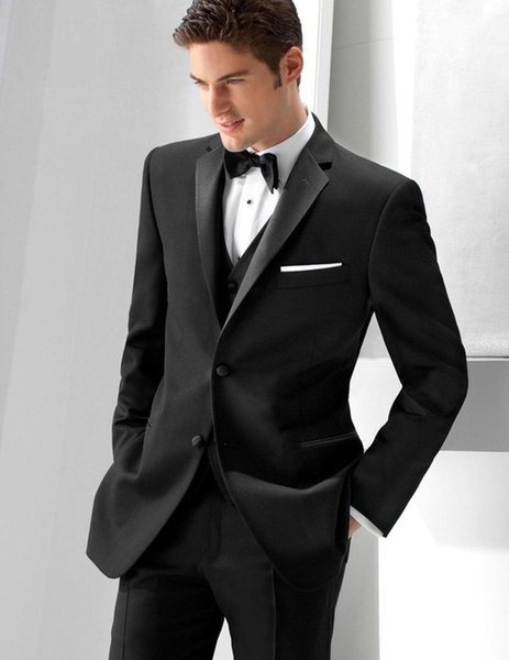 Classic Design Charcoal Grey Groom Tuxedos Notch Lapel Two Button Groomsmen Mens Wedding Tuxedos Excellent Man Suit(Jacket+Pants+Vest+Tie)12