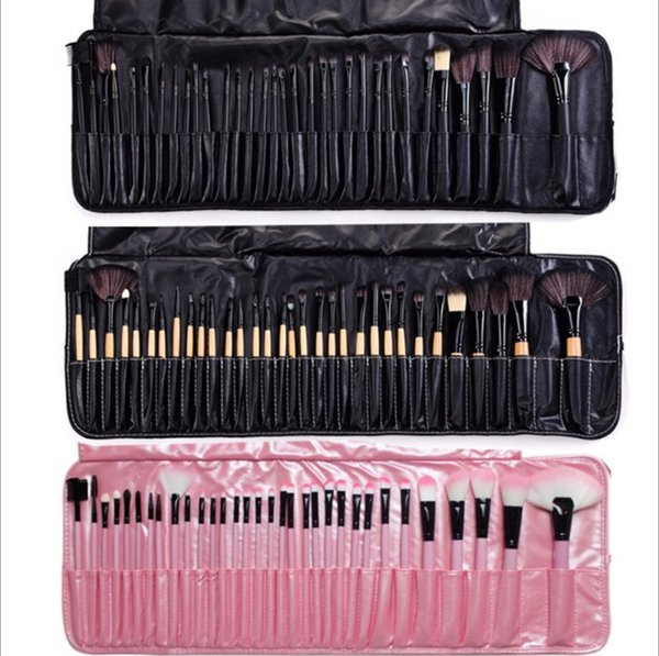 32pcs makeup brush set 2019 HOT SALE wood pole 32 pink wood color beauty makeup tools wholesale 20cm PU Bag eye shadow 400g 4 colors