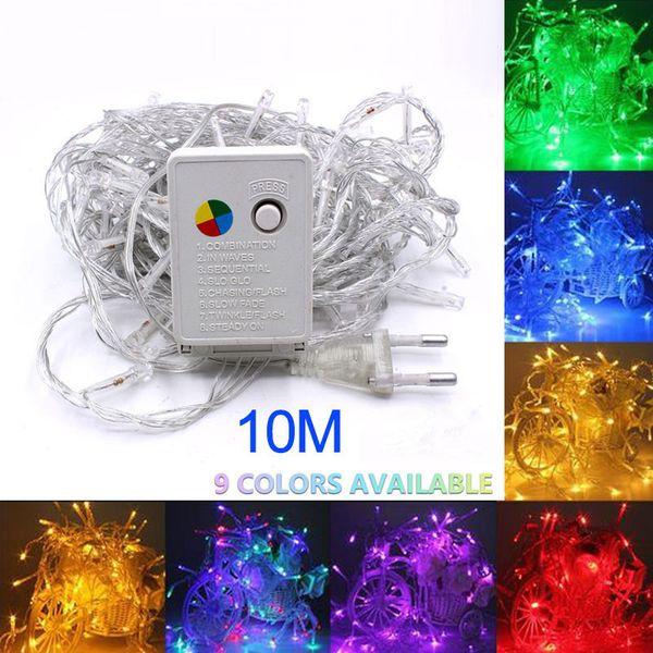 10M 100LED AC220V 110V Led Holiday String Lights Decor for Xmas Garland Wedding Christmas Outdoor Waterproof Fairy Light US/EU/AU Plug