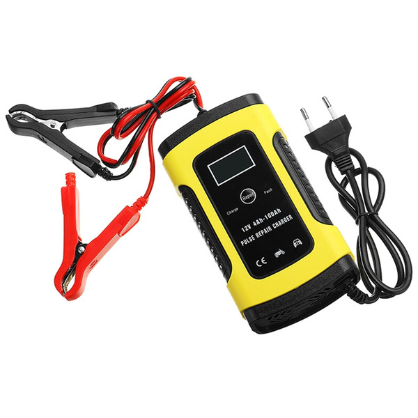 best selling 12V 5A Pulse Repair Motorcycle And Car Lead Acid Battery Charger With LCD Monitor
