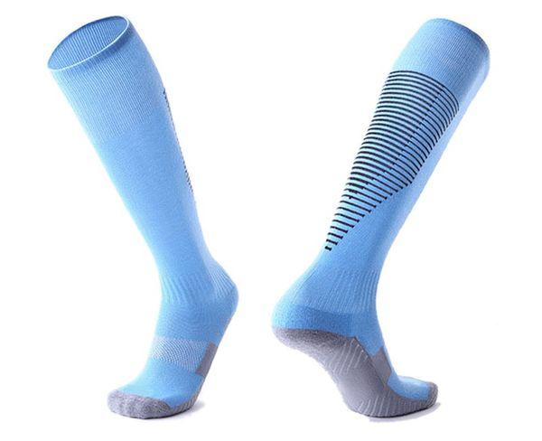 2019 Calcetines de fútbol streetwear, kits de moda caminando, gimnasia, calcetines, calcetines de fútbol, rodilla, transpirable, deporte, correr Medias largas