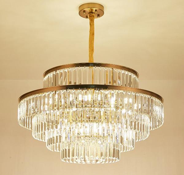 Gold Modern Chandelier Lighting For Living Room Luxury Crystal Light  Fixtures Dining Room Bedroom Hanging Lamps Cristal Lustres LLFA Chandelier  With ...