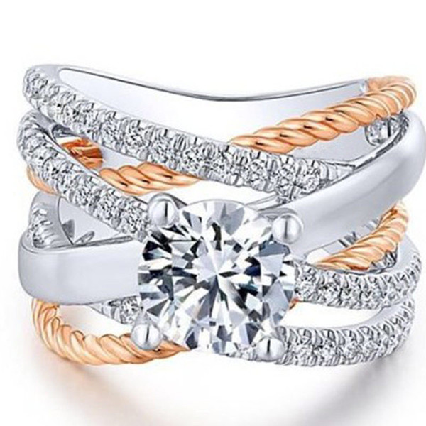 Designer designer géométrie en cristal anneaux anneaux pour femmes filles fiançailles anneaux de mariage bijoux de fête femme cadeaux cadeaux drop shipping