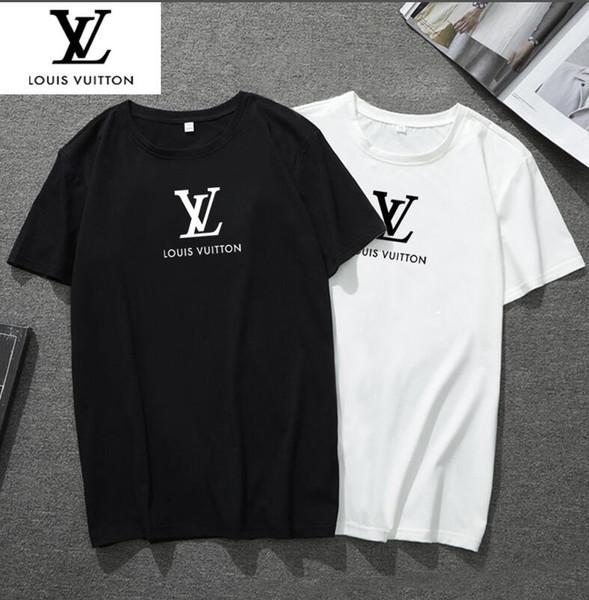 Nuevo diseñador de moda de París calle de verano bordado letras camisas de alta calidad de manga corta t-shits para hombre mujer mujer camiseta ropa