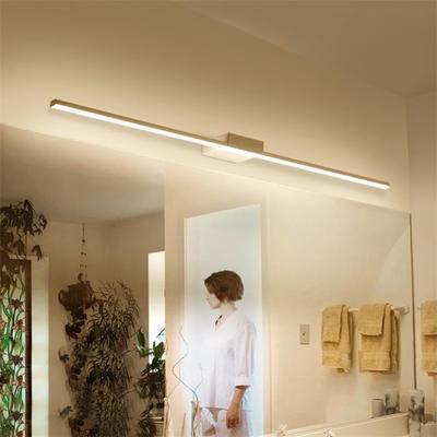 Nueva Llegada Caliente Negro / Blanco 400/600/800/1000 / 1200mm Led luces de espejo de baño Moderno maquillaje vestidor baño llevó lámpara de espejo