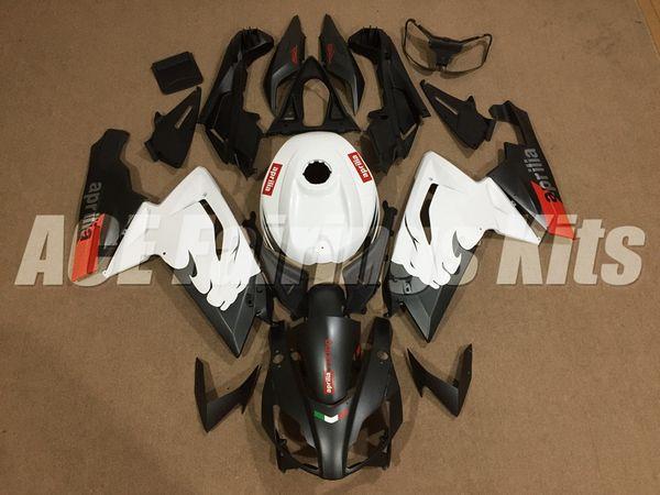 Nuevo kit de carenados para Aprilia RS4 RSV125 RS125 07 08 09 10 11 12 RS125R RS-125 RSV 125 RS 125 2006 2007 2008 2009 2010 2011 2012 negro blanco