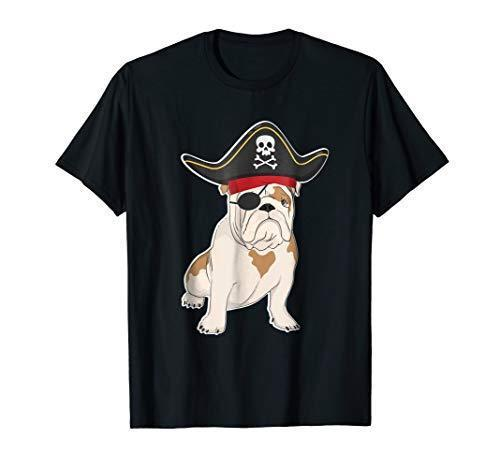 Funny BULLDOG Pirate Costume Halloween Dog Lovers T Shirt colour jersey Print t shirt