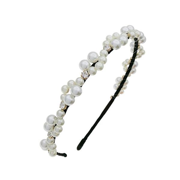 Ou yazi Korean jewelry artificial pearl headdress 2018 new hair band sweet lady lovely headband hair women