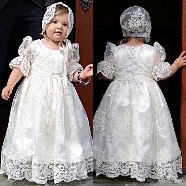 Prenses Beyaz Dantel Bebek İlk Communion Elbise Gor Kızlar Yürüyor Elbise Vestido Primera Komunion Vaftiz Törenlerinde Para Ninas Için Bebek