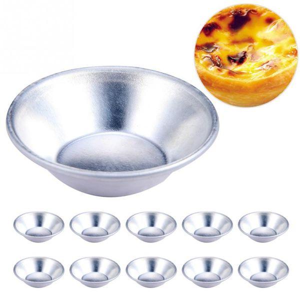 Cake Style Egg Tart Mold Pasteis De Nata Oven Bake Round Custard Tin Cake Tool 20 Pcs/bag