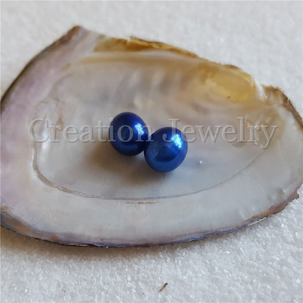 Venda quente 7-8mm pérolas de arroz, os azuis marinhos, sem buraco, 10 peças muito, 18 cores em estoque, para fazer jóias