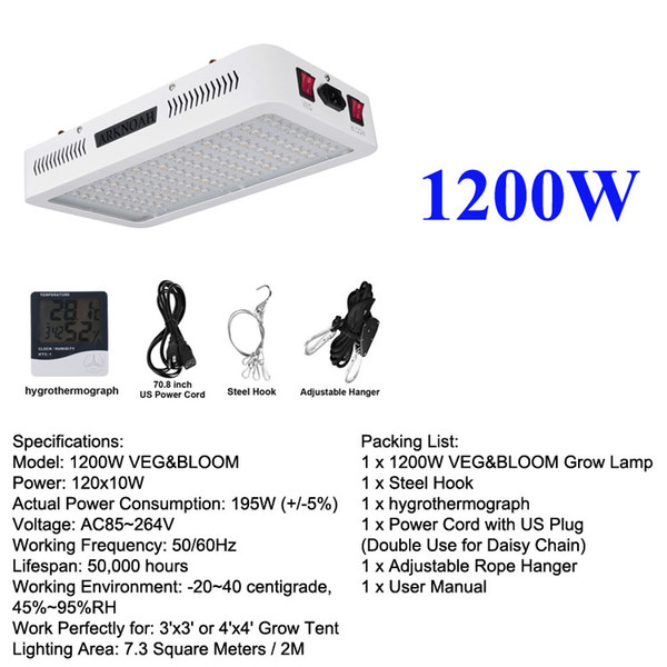 1200W 2 Channel cresce a luz