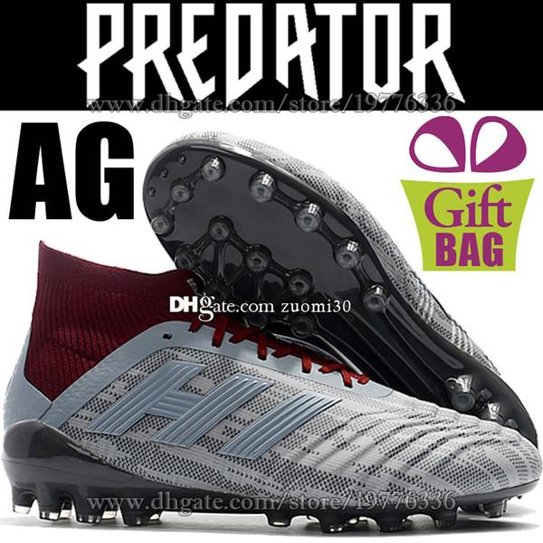 New Football Cleats AG Predator 18.1 Pogba High Ankle Soccer Cleats AG Mens  Outdoor Socks Soccer 19b5c983703