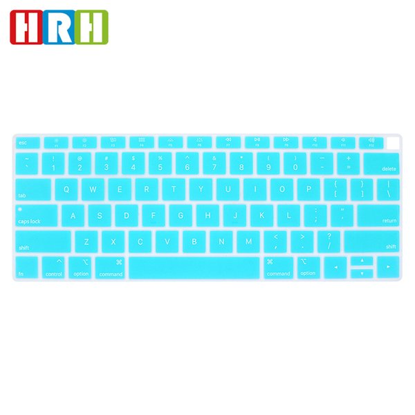 """English US Keyboard Cover Silicone Skin Protector for Macbook Air 13"""" Newest 2018 Released with Touch ID Fingerprint US Version"""