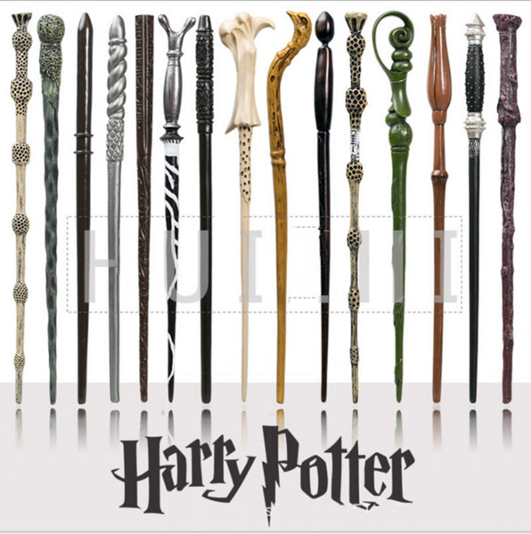 34 Colors Harry Potter Magic Wands Harry Lord Voldemort Hermione Dumbledore Magic Wand Hogwarts Sticks Train Ticket Cosplay Accessories sale