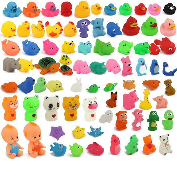 Baño de bebé Agua Pato Muñecas de animales Sonidos de juguete Mini Muñecas de animales pequeños Baño de niños Juguete pequeño Niños Nadando Playa Regalos de Navidad