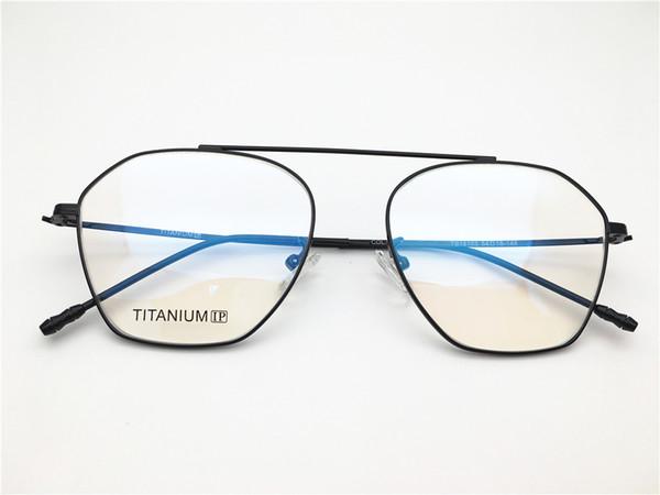 Brand flat top desgin men titanium ultra light irregular shape Spectacle frame Myopia Designer Glasses prescription clear lens eyeglass