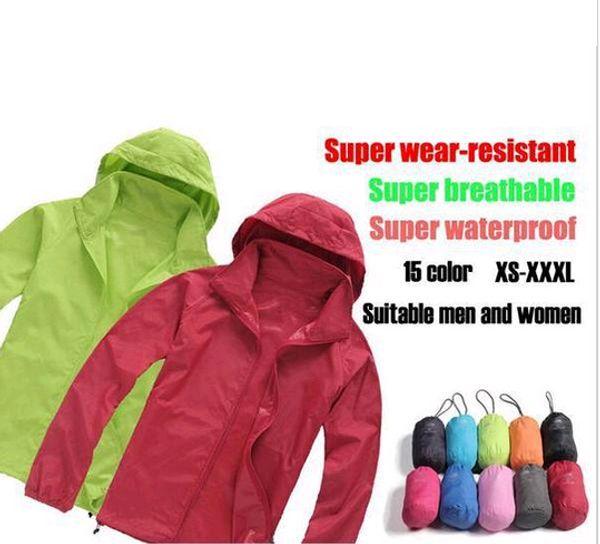 2019 New Summer Womens Mens Brand Rain Jacket Coats Outdoor Casual Hoodies Windproof and Waterproof Sunscreen Face Coats Black White XS-XXX