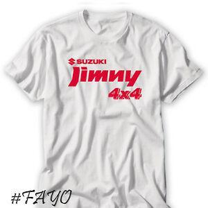 Nouveau Officiel Nouveau Jimny 4x4 Logo Blanc T-shirt Taille S 3XL