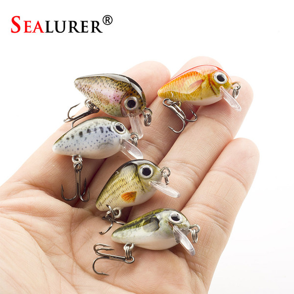 ishing Lures SEALURER 5PCS/Lot 1.8g 3cm Topwater 0.1-0.5m Wobbler Japan Mini Crankbait 5Baits with Plastic Box Fly Fishing Lure Crazy Wob...