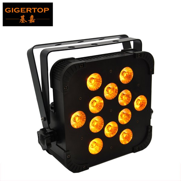 Freeshipping TP-G3045-5IN1 Slim 12x15w 5 Color Mixing Led Par Light Professional Led Lighting DMX Control 25 Degree Lens Stage Wall Washer