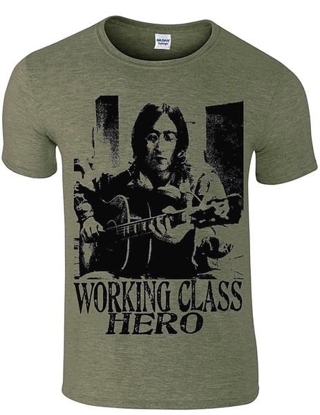 John Lennon working class hero tribute men`s t shirt music song,more colours Funny free shipping Unisex Casual gift