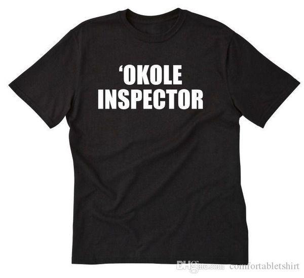 'Okole Inspector camiseta divertida Hawaii Pidgin lema hawaiano Butt Tee tamaño S-5X