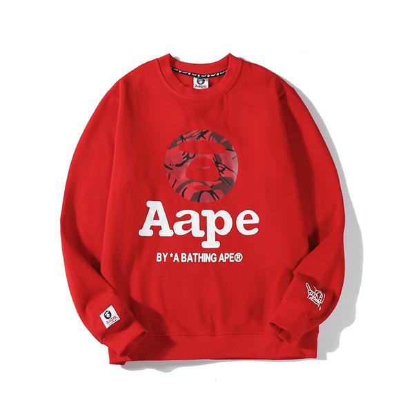 Winter Mens Women Sweatshirts Thick Monkey Cashmere Long Sleeve Fleece Hoodie Pullover Luxury Sweater Street Fashion Hiphop Top EAR B103562L