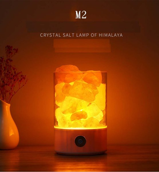 2019 Himalayan Salt Lamp Rock Natural Crystal Small Ionic Stone Night Bedside Light From Yingying08 13 06 Dhgate Com