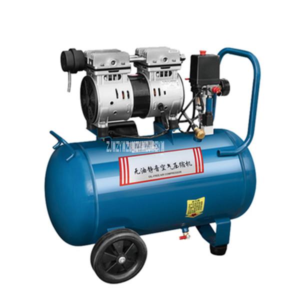 Q1E-FF02-1824 Air Compressor Bomba Inflável Pintura Woodworking Household Pequeno Silencioso Compressor de Ar Livre de Óleo 220 V 750 W 24L